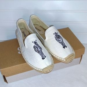 New in Box Soludos Espadrilles with Zebras!